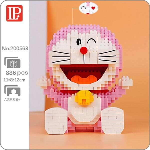 LP 200563 Pink Sitting Doraemon