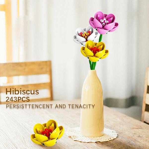 Sembo 601235 3 Pieces Bouquet Hibiscus Syriacus