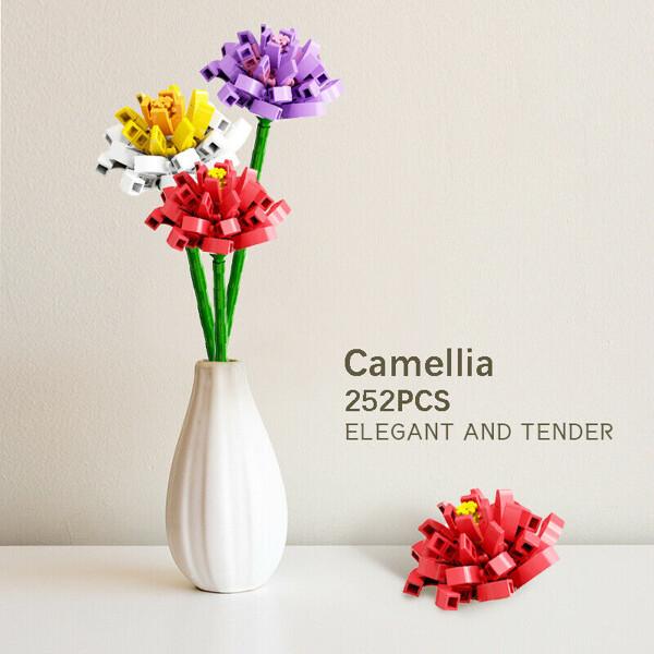 Sembo 601237 3 Pieces Bouquet Camellia