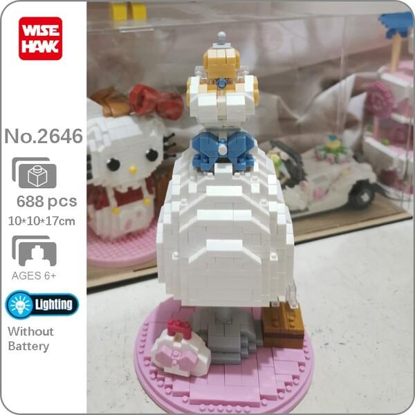 Wise Hawk 2646 Princess Bride White Wedding Dress