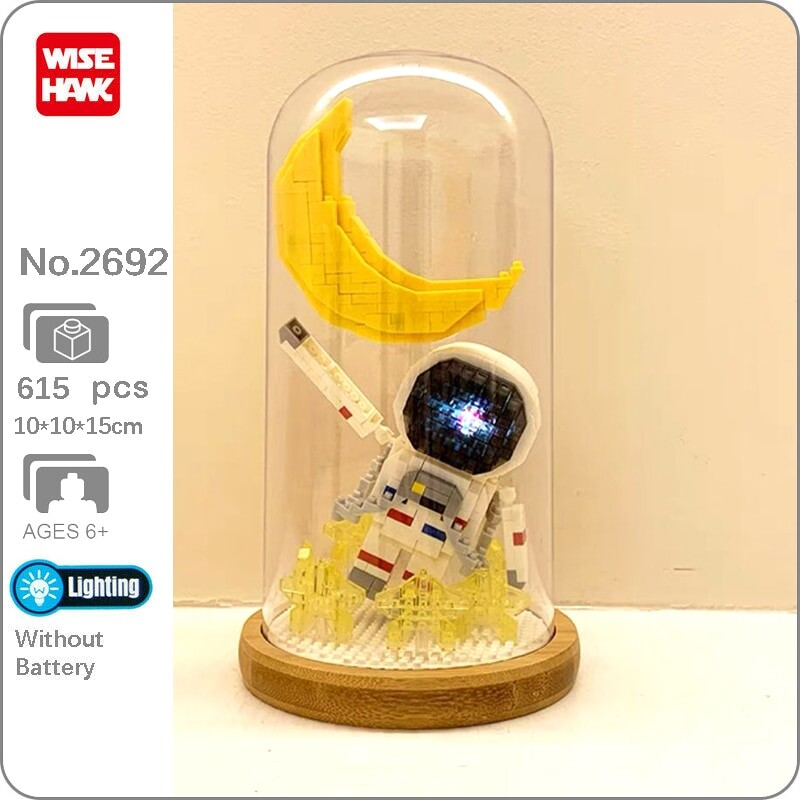 Wise Hawk 2692 Space Advanture Astronaut and Moon