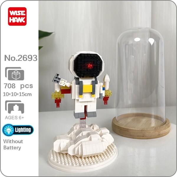 Wise Hawk 2693 Space Advanture Astronaut with Lift Off Rocket