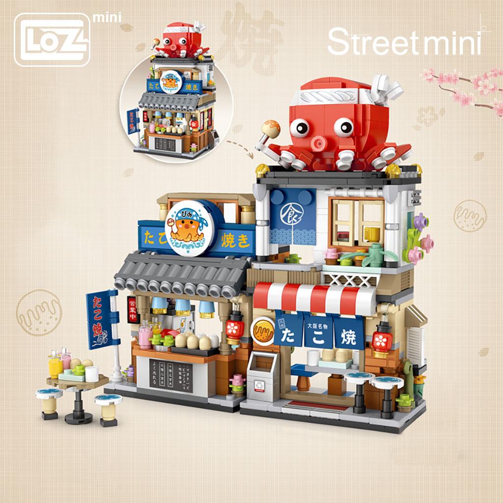 LOZ 1218-1219 Japanese Folding Food Street