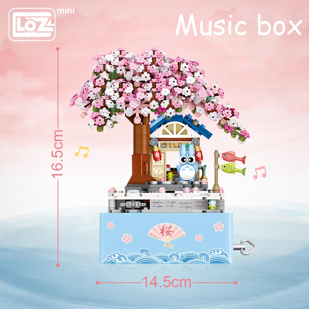 LOZ 1221 Cherry Blossom Music Box