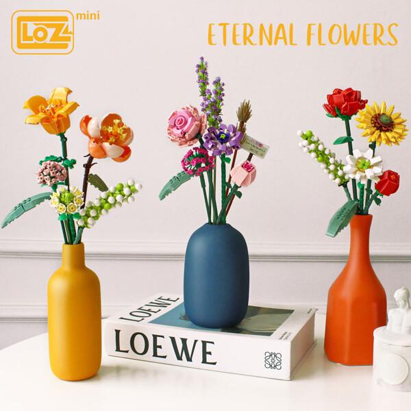 LOZ 1657-1659 P0057-P0059 Eternal Flowers and Vases