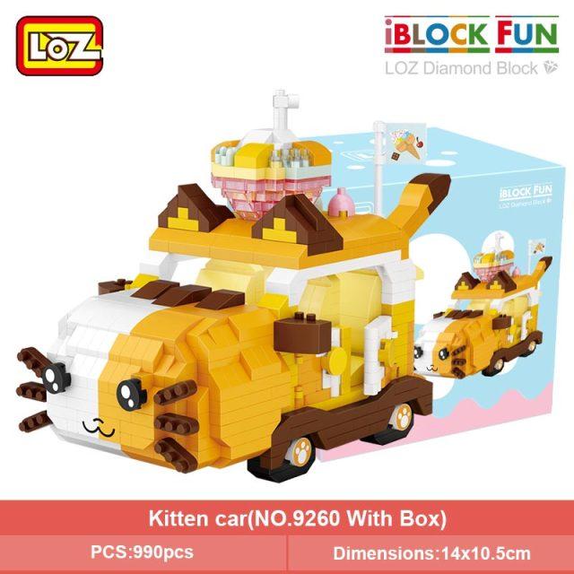 LOZ 9260-6262 Cartoon Animal Car