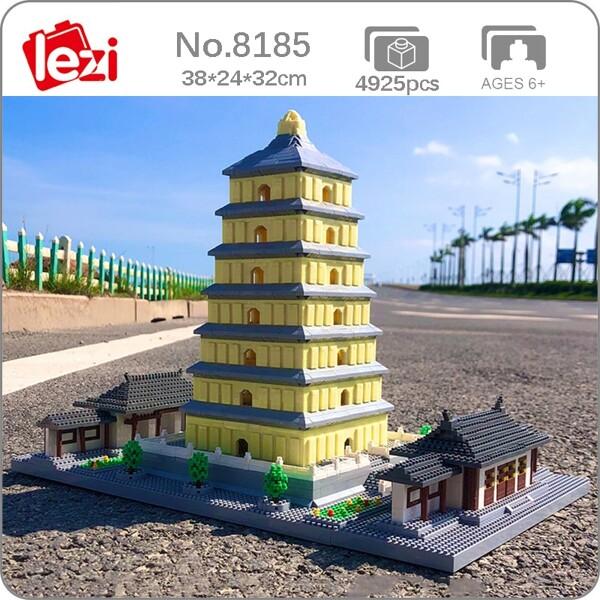 Lezi 8185 Giant Wild Goose Pagoda Tower