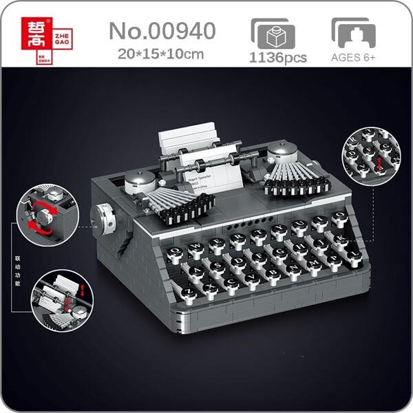 Zhegao 00940 Retro Classic Typewriter