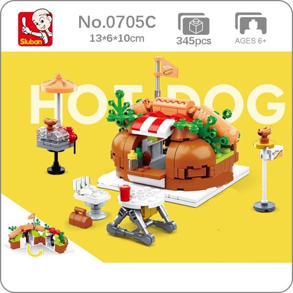 Sluban B0705C Hot Dog Fast Food Restaurant