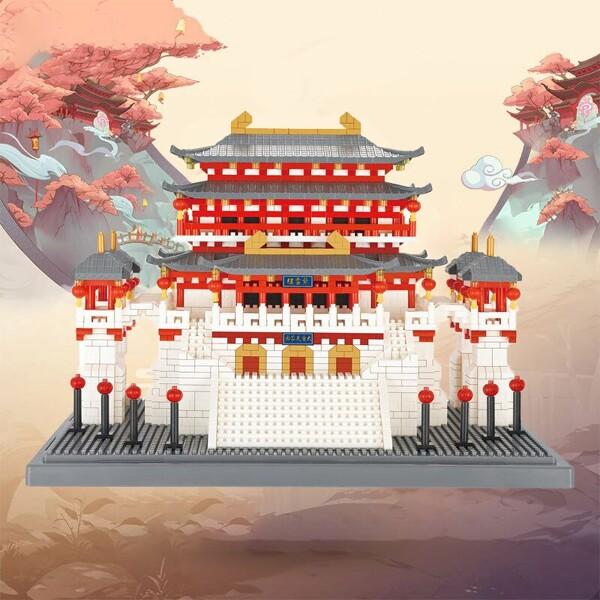 YZ 087 China Ancient Lotus Pavilion Palace