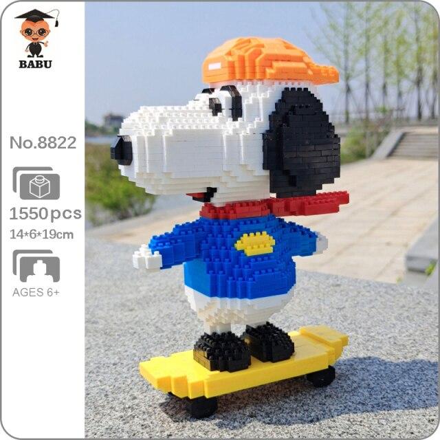 Babu 8822 Snoopy on Skateboard