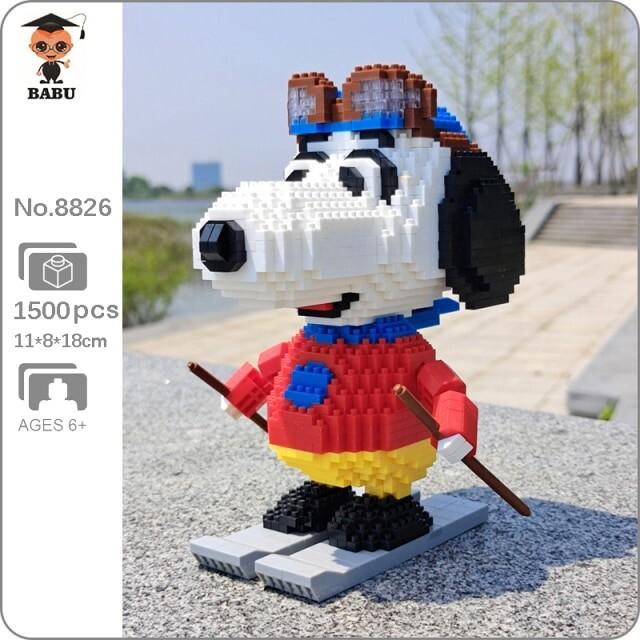 Babu 8826 Snoopy Skiing