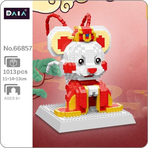 DAIA 66857 Zodiac Peking Opera Costume Mouse