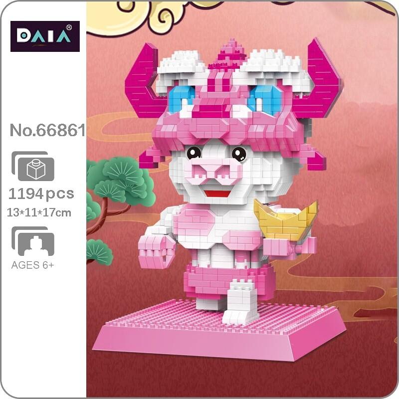 DAIA 66861 Chinese Zodiac Opera Fortune Gold Ingot Cow