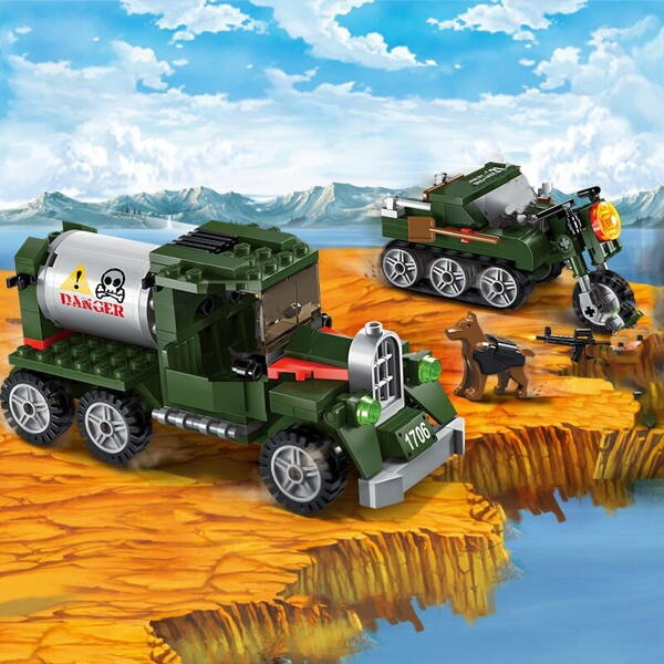 Enlighten 1706 Military Truck and Motorcycle