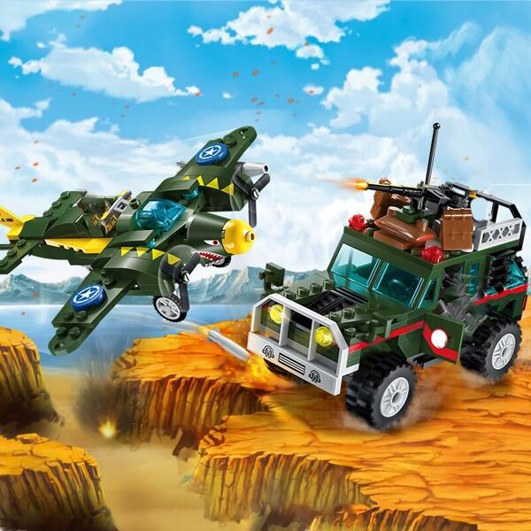 Enlighten 1707 Battlefield Jeep and Shark Plane