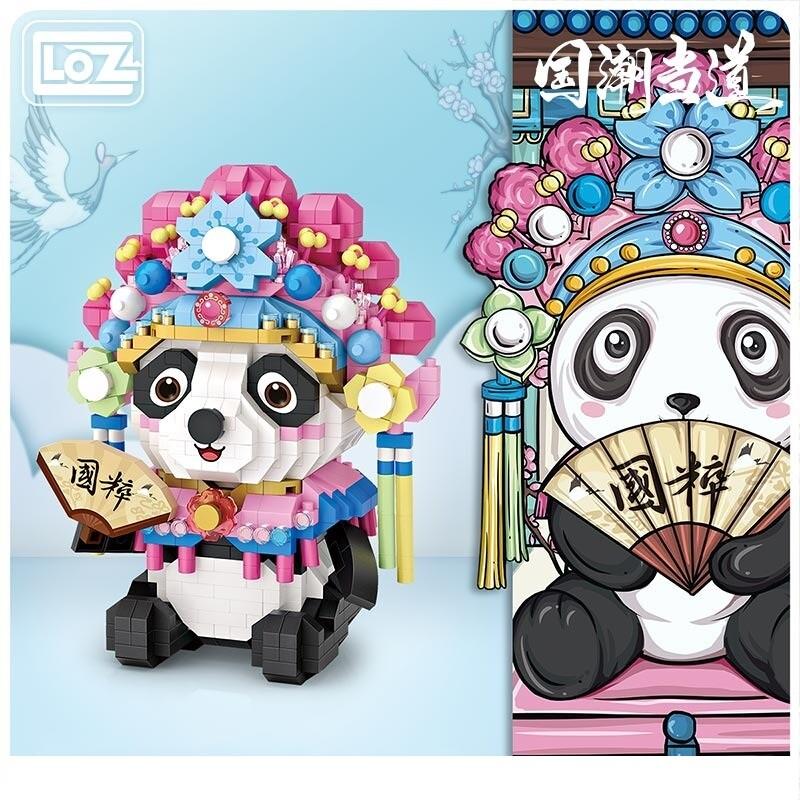 LOZ 9265 Hua Dan Red Panda