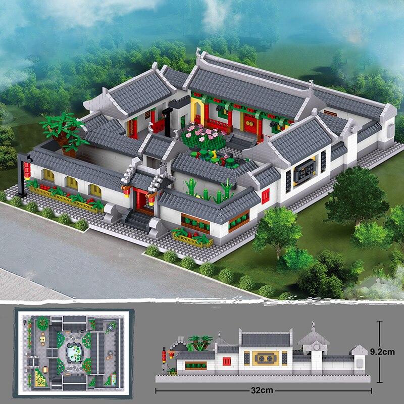 Lezi 8055 Ancient Chinese Courtyard