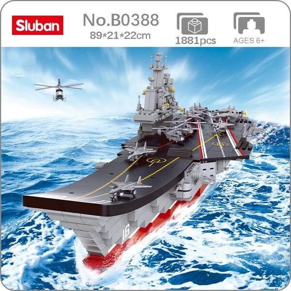 Sluban 0388 Large Aircraft Carrier Liaoning 1:350