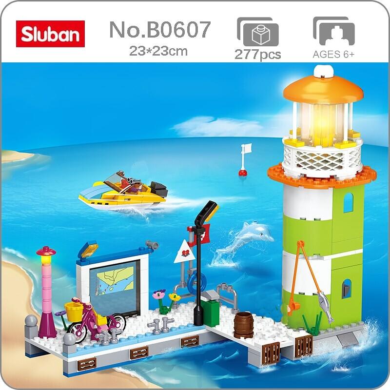 Sluban B0607 Pink Dream Dolphin Bay: Dolphin Bay Pier Lighthouse