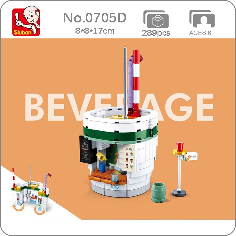 Sluban B0705D Food Court Fruit Juice Beverage Shop