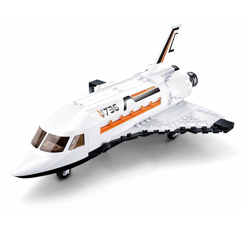 Sluban B0736 Space Adventure Shuttle Airbus Jet