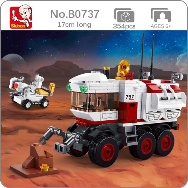 Sluban B0737 Space Adventure Mars Exploration Rover Car Turck Astronaut