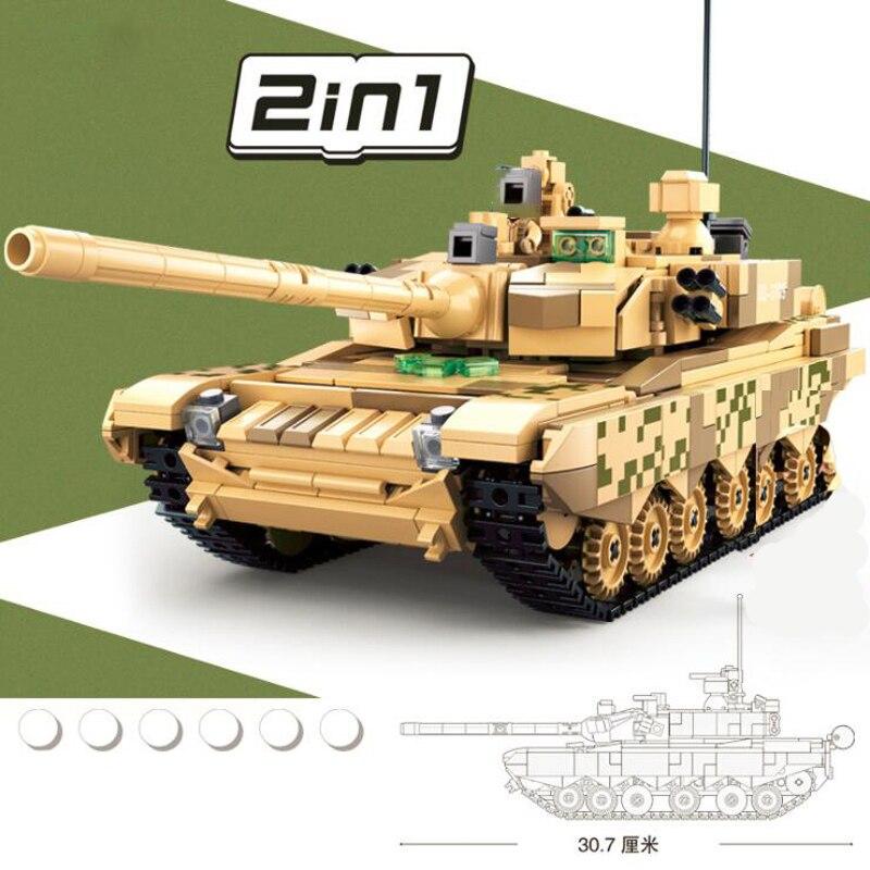 Sluban B0790 Military Army Main Battle Tank Heavy Power 2 in 1