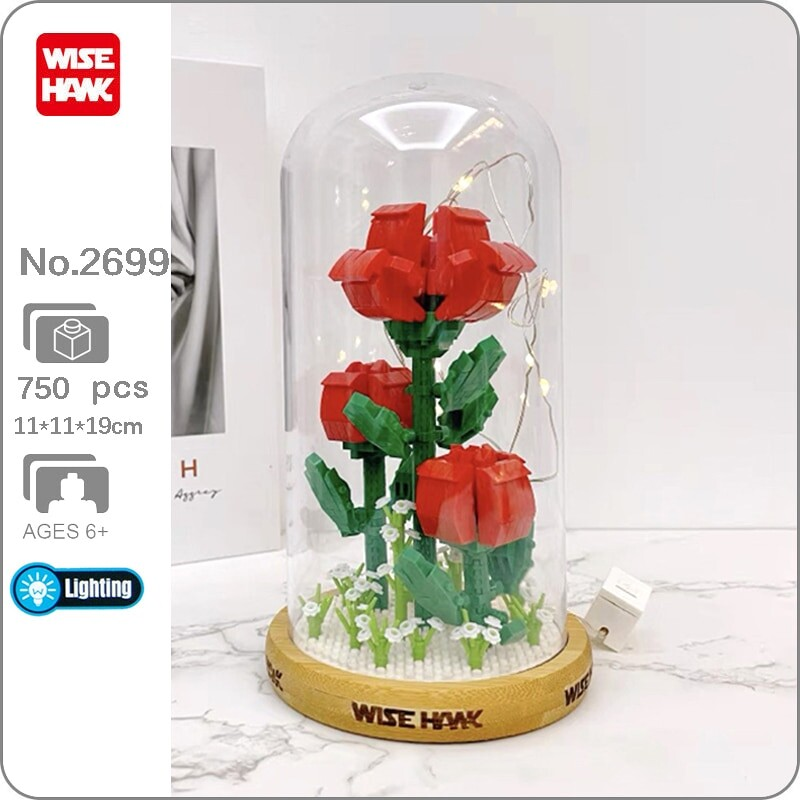 Wise Hawk 2699 Red Rose