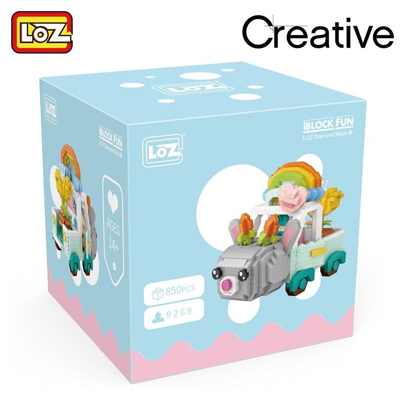 LOZ 6269 Cartoon Rabbit Car