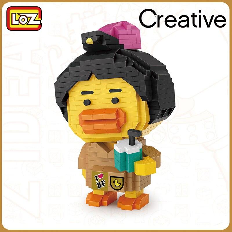 LOZ 9267-9268 Drink Milk Tea Duck and Travel Duck Bfamily