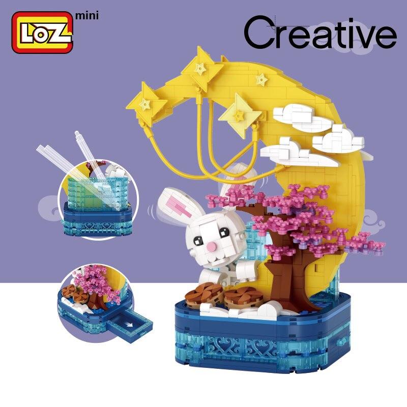 LOZ 1230 Mid-Autumn Festival Moon Rabbit Pen Holder