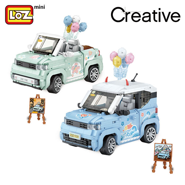 LOZ 1131-1132 Mini Car