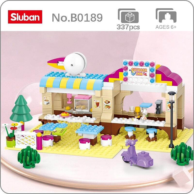 Sluban B0530 Bird Fast Food Shop Court