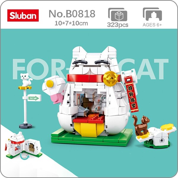 Sluban B0818 Cute White Fortune Cat