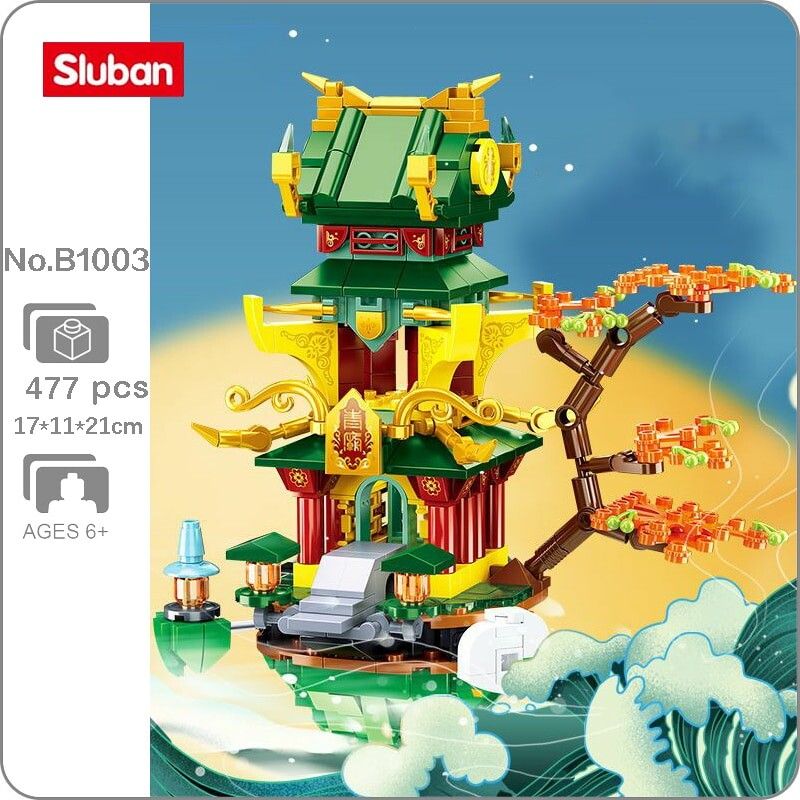 Sluban B1003 Ancient Tree Fairy Pavilion Tower Palace
