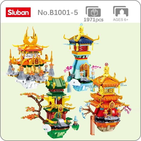 Sluban B1001-5 Chinese Ancient Fairy Pavilion Tower