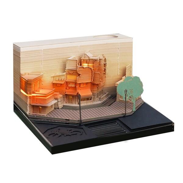 Modern City Corner Style Notepad Fashion Gifts Novelty Home Decor Post Its Note Laser Cutting Stick - ®OMOSHIROI Block