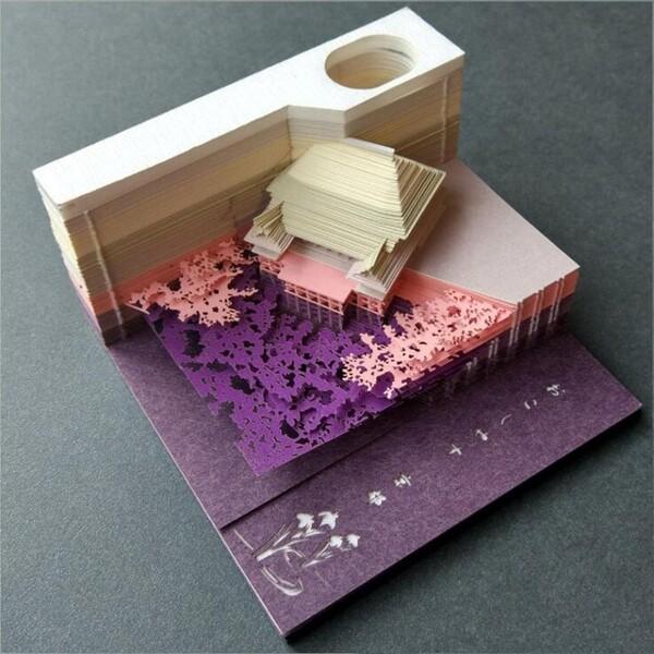 Omoshiroi Block 3D Memo Pads Novelty World Famous Buildings Model Notes Design Christmas Gift 1.jpg 640x640 1 - ®OMOSHIROI Block