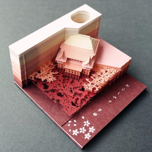 Omoshiroi Block 3D Memo Pads Novelty World Famous Buildings Model Notes Design Christmas Gift 2.jpg 640x640 2 - ®OMOSHIROI Block