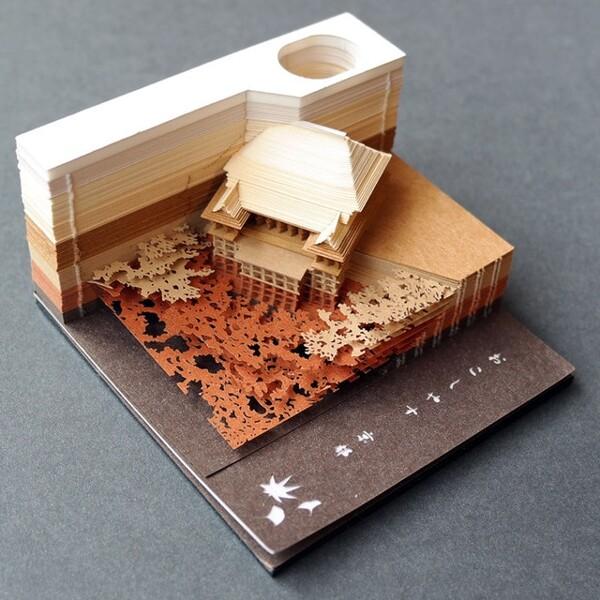 Omoshiroi Block 3D Memo Pads Novelty World Famous Buildings Model Notes Design Christmas Gift 3.jpg 640x640 3 - ®OMOSHIROI Block