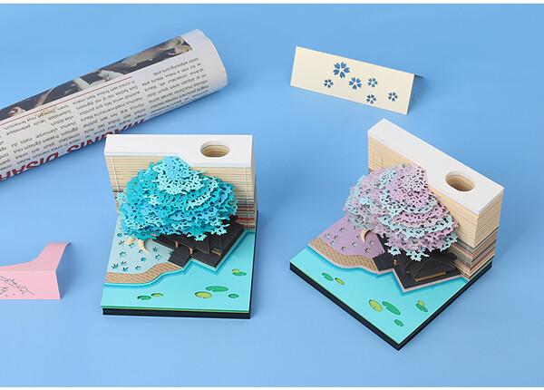 Tree House Omoshiroi Block 3D Memo Pad