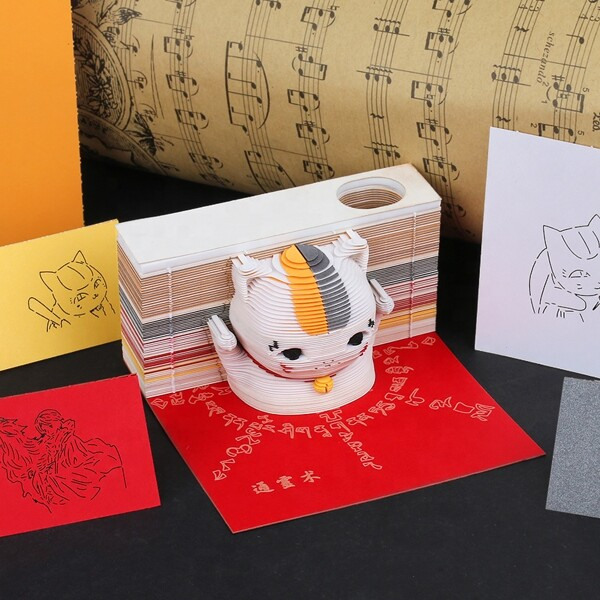Maneki Neko Lucky Cat Omoshiroi Block 5