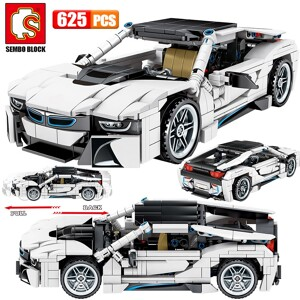 SEMBO 701603 Juggernaut Hurricane: BMW I8 Coupe Pull Back Car