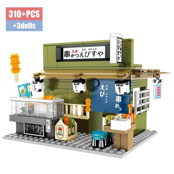 SEMBO 601073 Japanese Street View: Skewers Shop