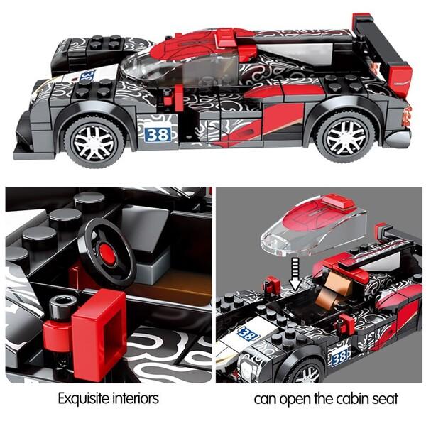 SEMBO 607304 Jackie Chan DC team building block model 1:32 Racing car