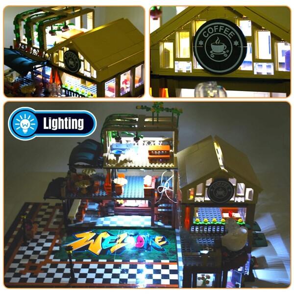 SEMBO 601093 Casual coffee house lighting Street View