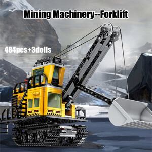 SEMBO 107026 Wandering Earth: Wandering Earth Mining Machinery-Forklift Technic