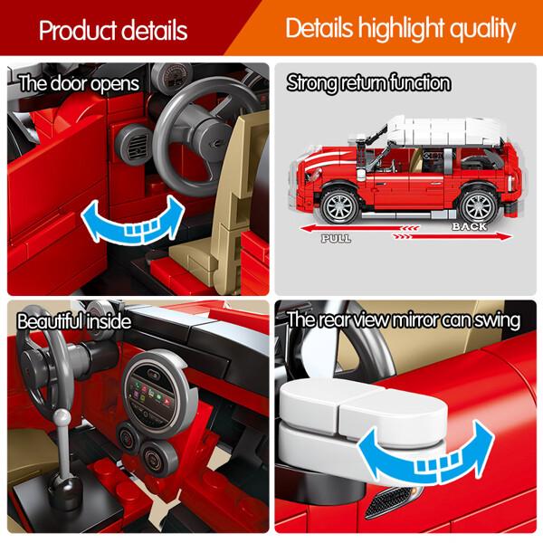 SEMBO 701503 Juggernaut Hurricane: MINI Sports Car Pull Back Technic