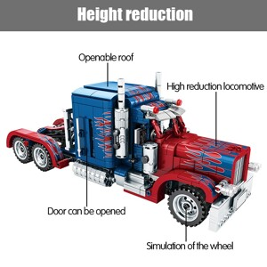 SEMBO 701803 TECHINQUE: Peterbilt 389 Optimus Prime color matching Technic